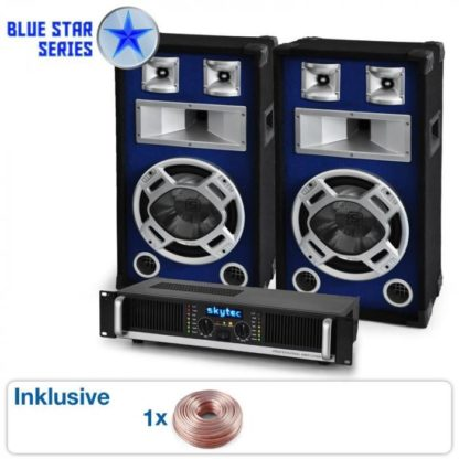 "Hangtechnika Electronic-Star PA SET BLUE STAR SERIES ""BEATBASS II"" 1200 W"