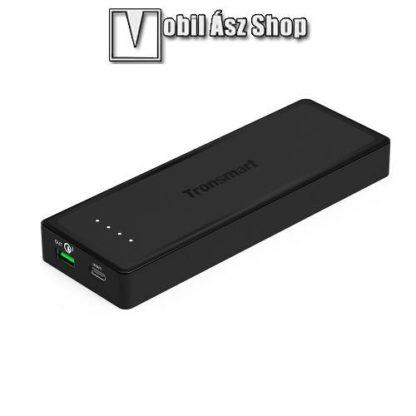 TRONSMART hordozható töltő / vésztöltő - FEKETE - 10400mAh